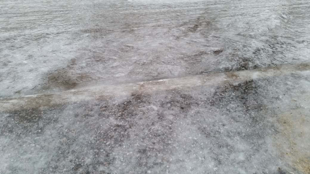 Ice on the street